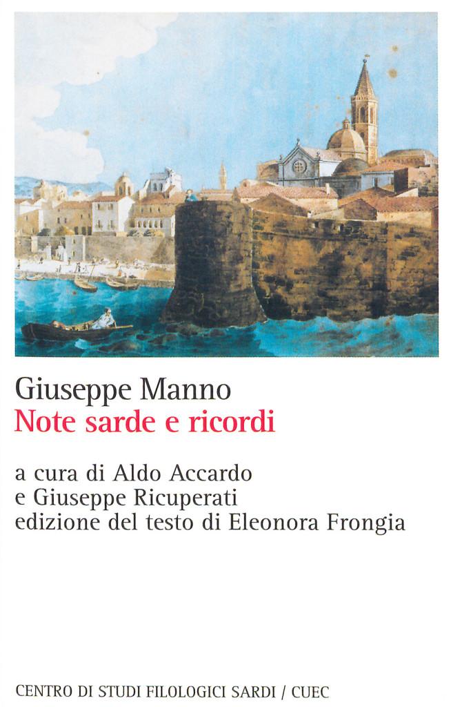 GIUSEPPE MANNO NOTE E RICORDI