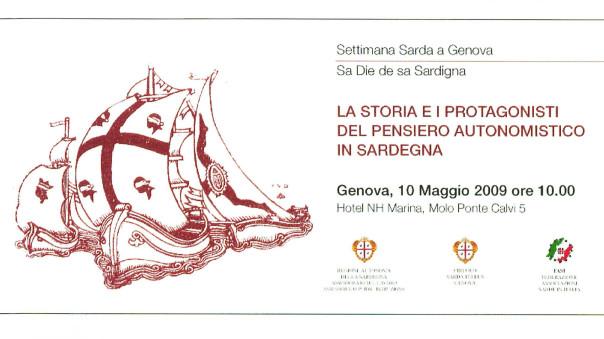 Settimana sarda a Genova - La storia e i protagonisti del pensiero autonomistico in Sardegna