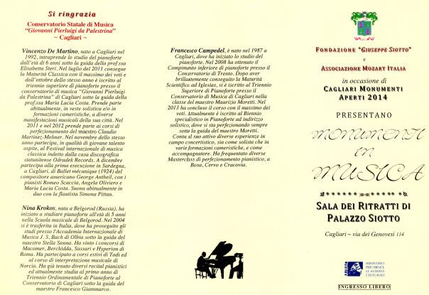 Monumenti in musica - Monumenti Aperti 2014