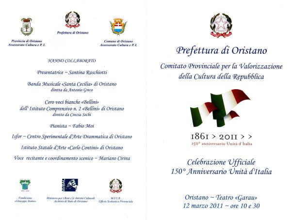 Celebrazione Ufficiale 150° Anniversario Unità d'Italia