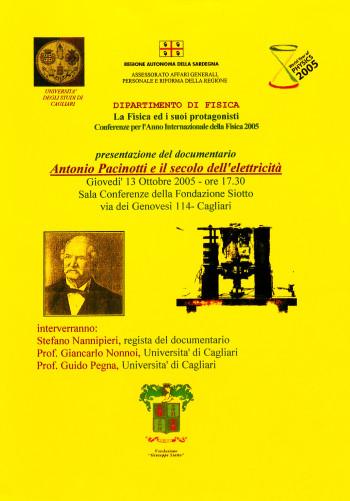 """Presentazione del documentario """"Antonio Pacinotti e il secolo dell'elettricità"""""""
