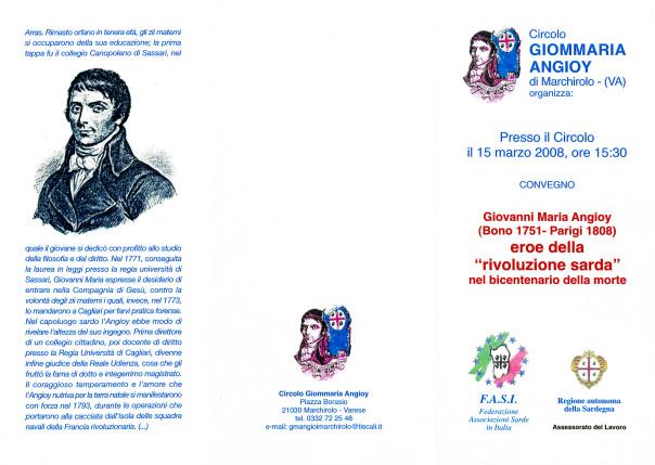 """Giovanni Maria Angioy eroe della """"rivoluzione sarda"""" nel centenario della morte"""