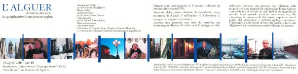 L'Alguer - Antonio Maciocco. Lo sguardo altro di un giovane regista
