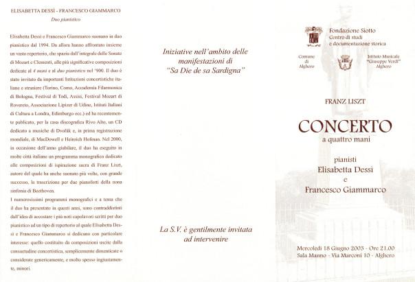 Franz Liszt - Concerto a quattro mani