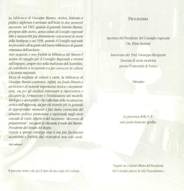 Presentazione del volume: La biblioteca di Giuseppe Manno