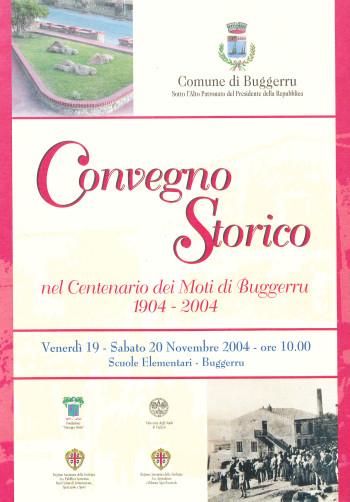 Convegno Storico nel centenario dei Moti di Buggerru 1904-2004