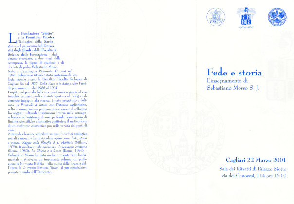 Fede e storia - L'insegnamento di Sebastiano Mosso S.J.