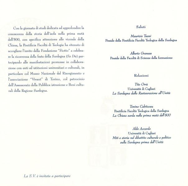 Chiesa e società in Sardegna da fine '700 all'Unità