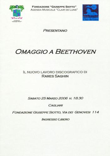 Omaggio a Beethoven - Il nuovo lavoro discografico di Rares Saghin
