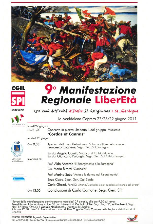 9° Manifestazione Regionale LiberEtà - 150 anni dell'Unità d'Italia. Il Risorgimento e la Sardegna