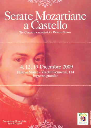 Serate Mozartiane a Castello - Tre Concerti cameristici a Palazzo Siotto