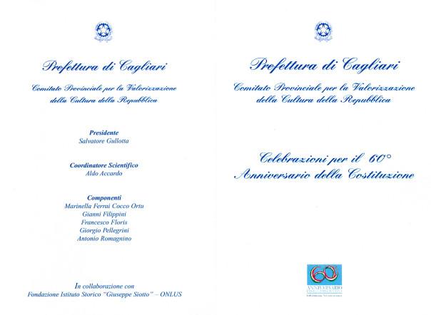Celebrazioni per il 60° Anniversario della Costituzione