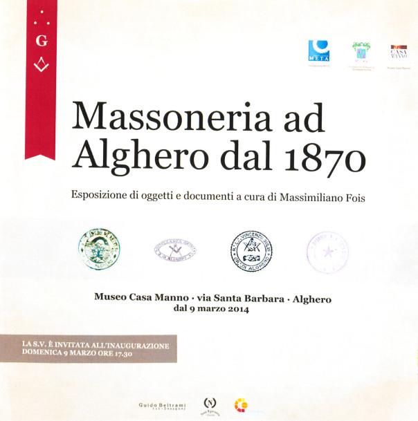 Massoneria ad Alghero da 1870 - Esposizione di oggetti e documenti a cura di Massimiliano Fois