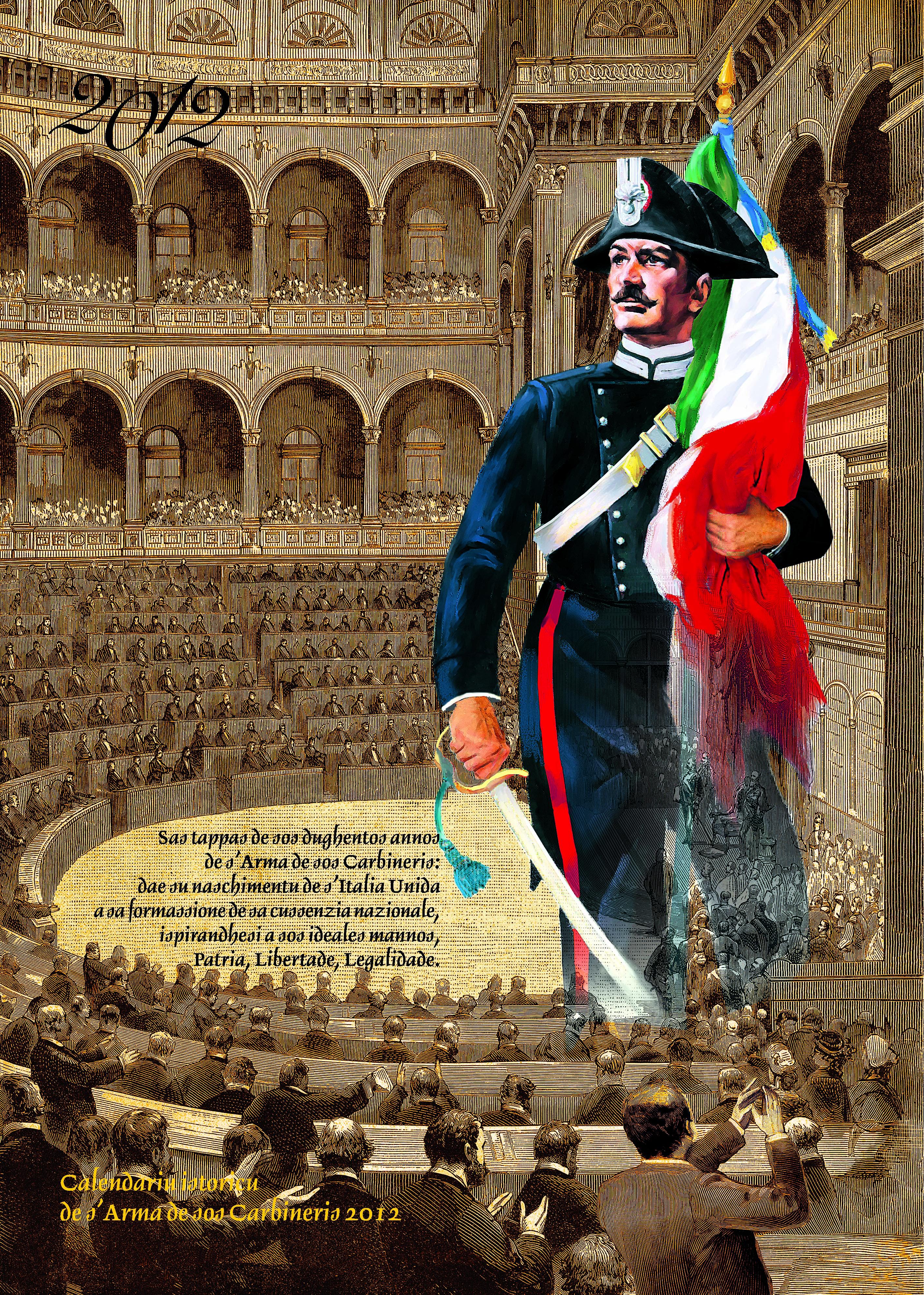 Calendario Carabinieri.Calendario Storico Dell Arma Dei Carabinieri 2012