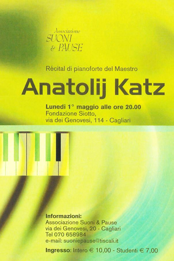 Anatolij Katz - Récital di pianoforte del Maestro