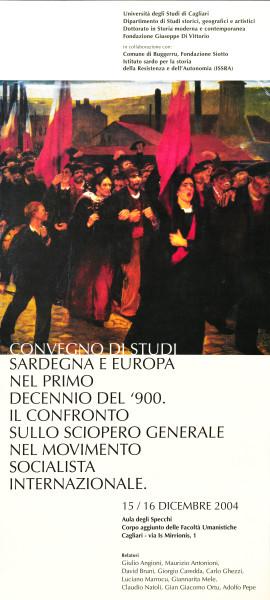 Convegno di studi - Sardegna e Europa nel primo decennio del '900. Il confronto sullo sciopero generale nel movimento socialista internazionale