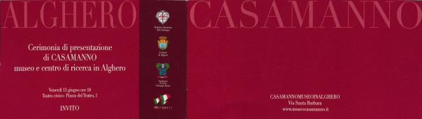 Cerimonia di presentazione di CASAMANNO, museo e centro di ricerca in Alghero