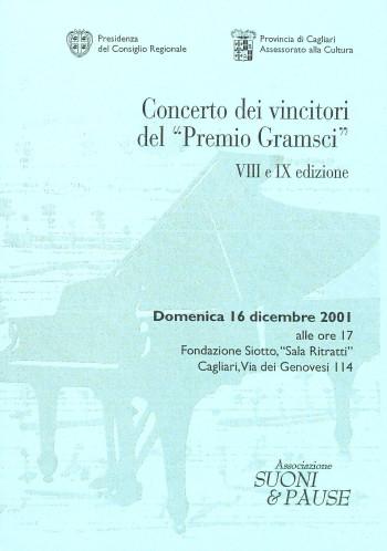 """Concerto dei vincitori del """"Premio Gramsci"""" - VIII e IX edizone"""
