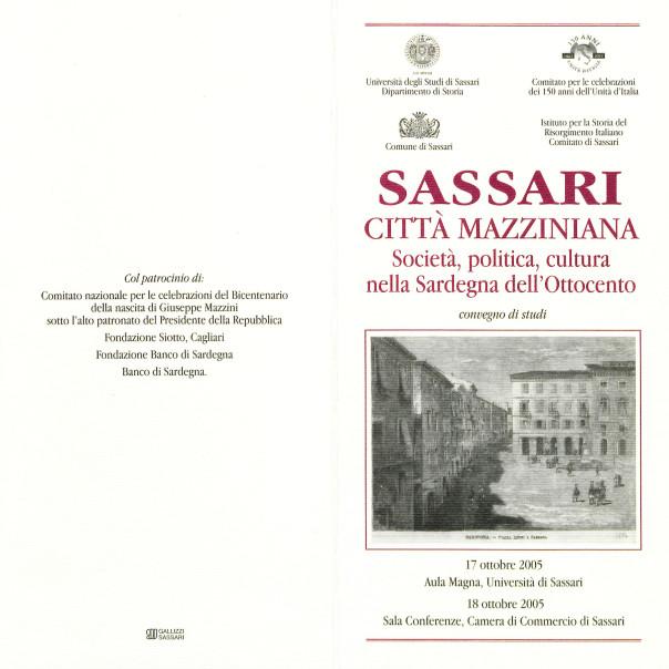 Sassari città mazziniana - Società, politica, cultura nella Sardegna dell'Ottocento