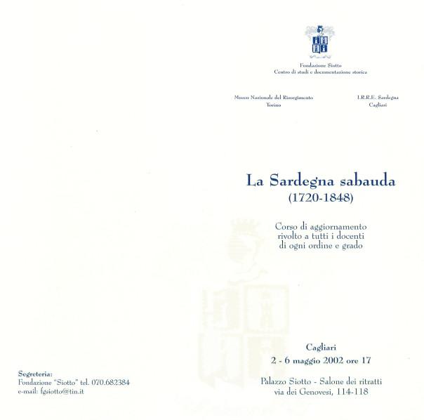 La Sardegna sabauda (1720-1848)