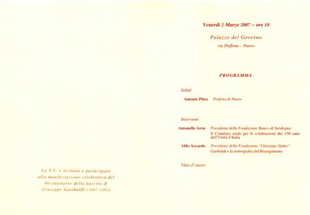 Bicentenario Garibaldino - Giornata di studi