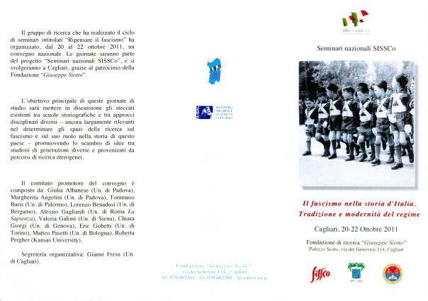 Il fascismo nella storia d'Italia. Tradizione e modernità nel regime - Seminari nazionali SISSCo