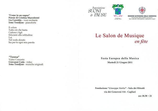 Le Salon de Musique en fête - festa europea della musica 2011