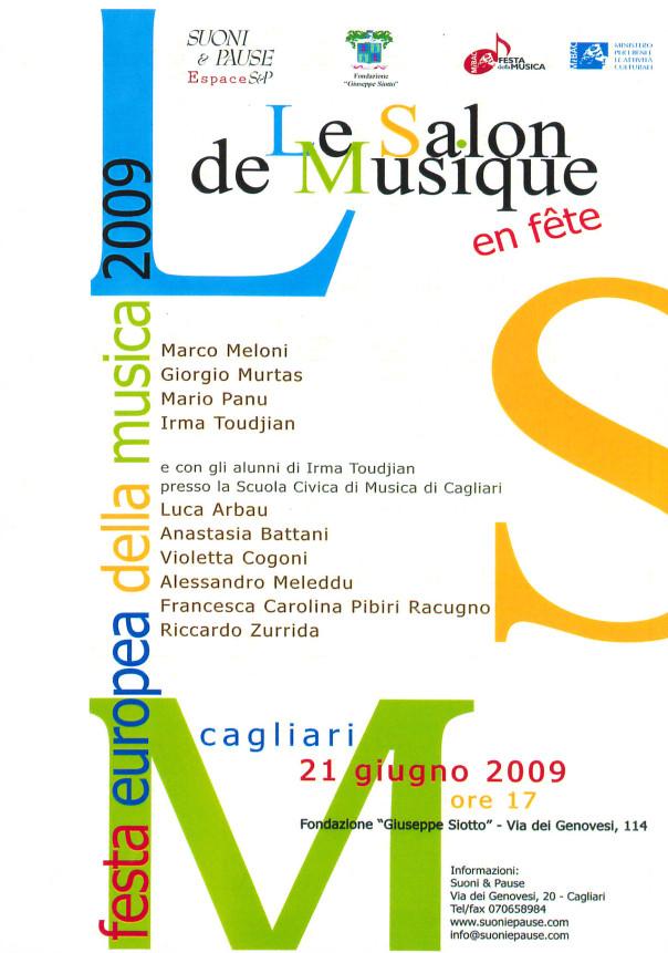 Le Salon de Musique en fête - festa europea della musica 2009