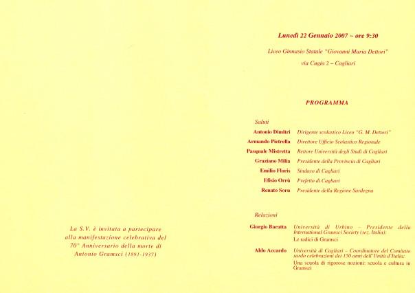 Antonio Gramsci - Settantesimo anniversario della morte
