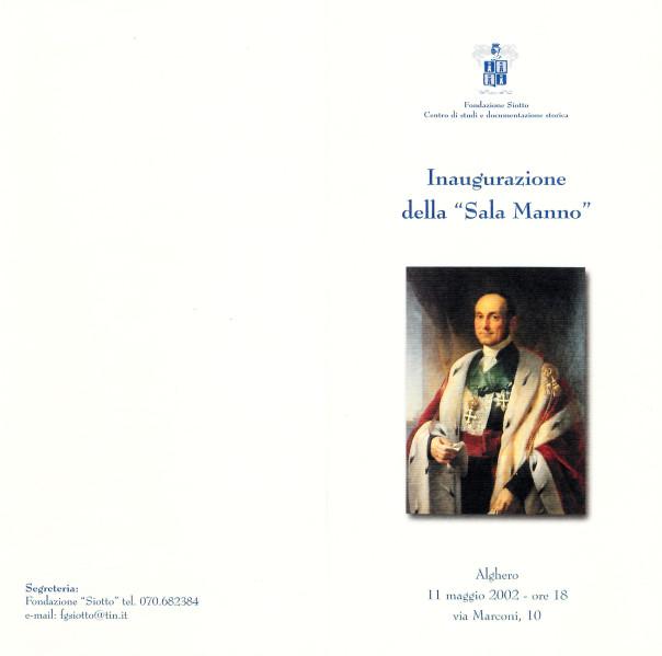 """Inaugurazione della """"Sala Manno"""""""
