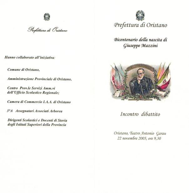 Bicentenario della nascita di Giuseppe Mazzini - Incontro dibattito
