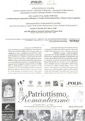 Patriottismo e Romanticismo - Italia e Ungheria nel Risorgimento