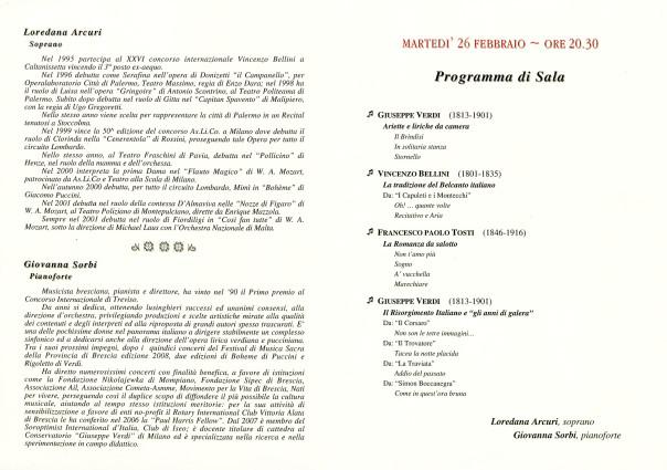 Storia e Musica - Recital di Arie d'Opera e Liriche da Camera