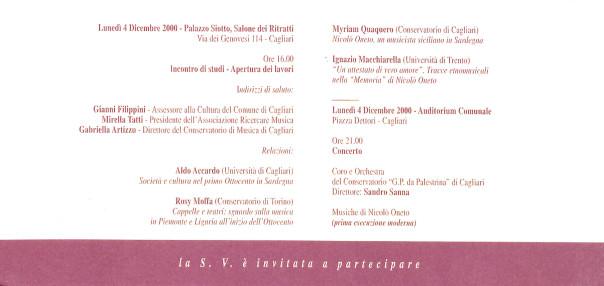 Nicolò Oneto e la musica in Sardegna nell'Ottocento