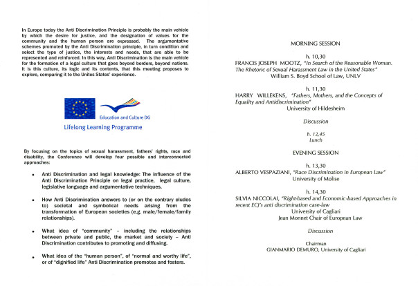 """II Jean Monnet Conference - Shaping the """"normal"""" and the """"fair"""""""
