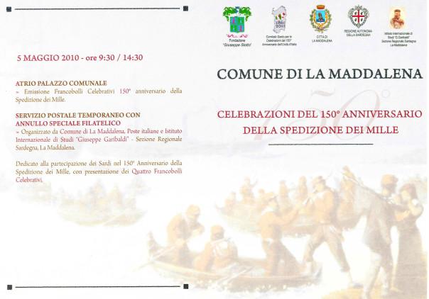 Celebrazioni del 150° anniversario della spedizione dei Mille