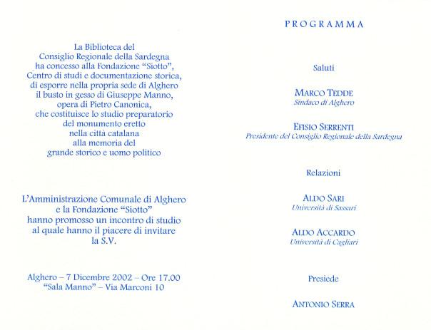 Incontro di studio su Giuseppe Manno