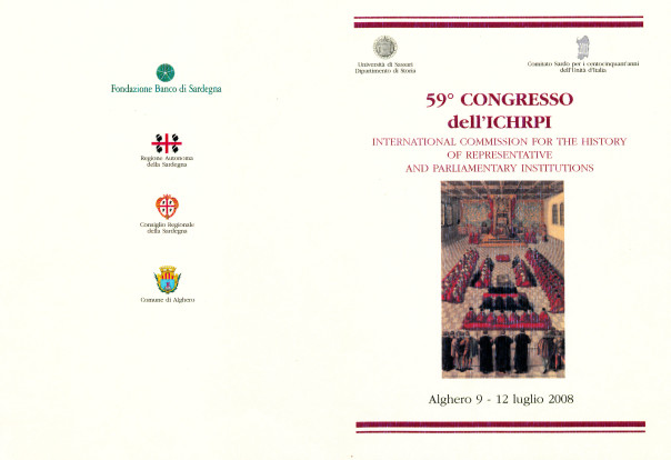 59° Convegno dell'ICHRPI: International commission for the history of representative and parliamentary institutions