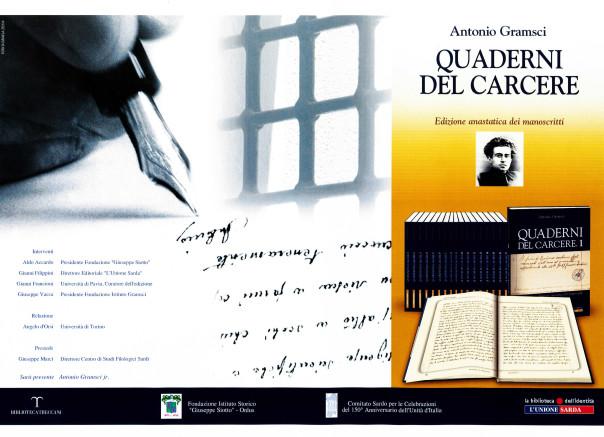 Presentazione della edizione anastatica dei manoscritti di Antonio Gramsci: Quaderni dal carcere