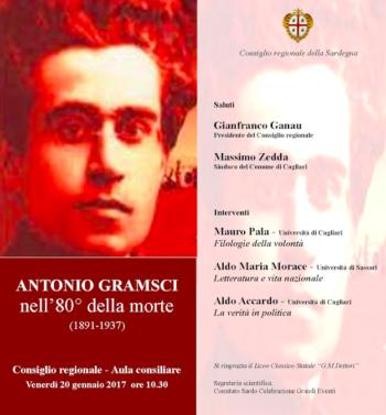 Antonio Gramsci nell'80° della morte: convegno nel Consiglio Regionale