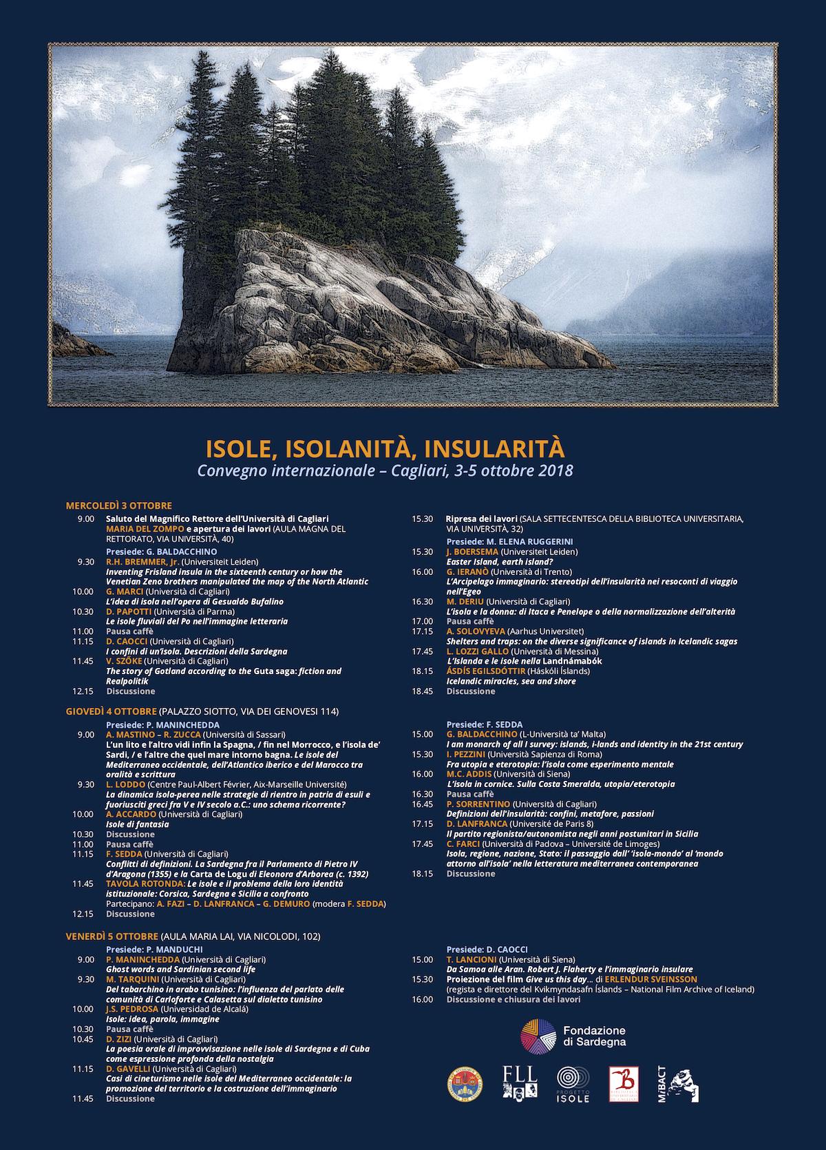 """A Palazzo Siotto convegno internazionale """"Isole, Isolanità, Insularità"""""""