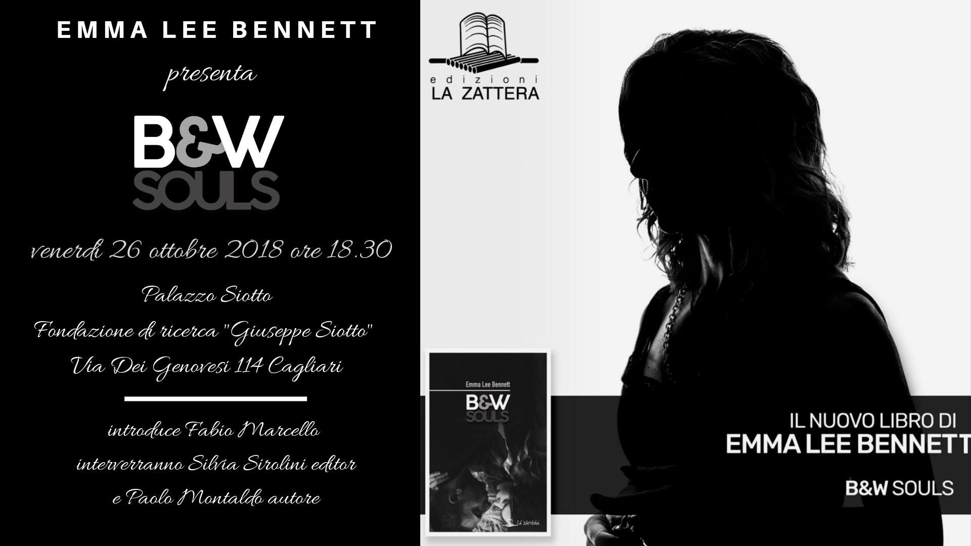 """Presentazione del volume """"B&W Souls"""" di Emma Lee Bennett"""