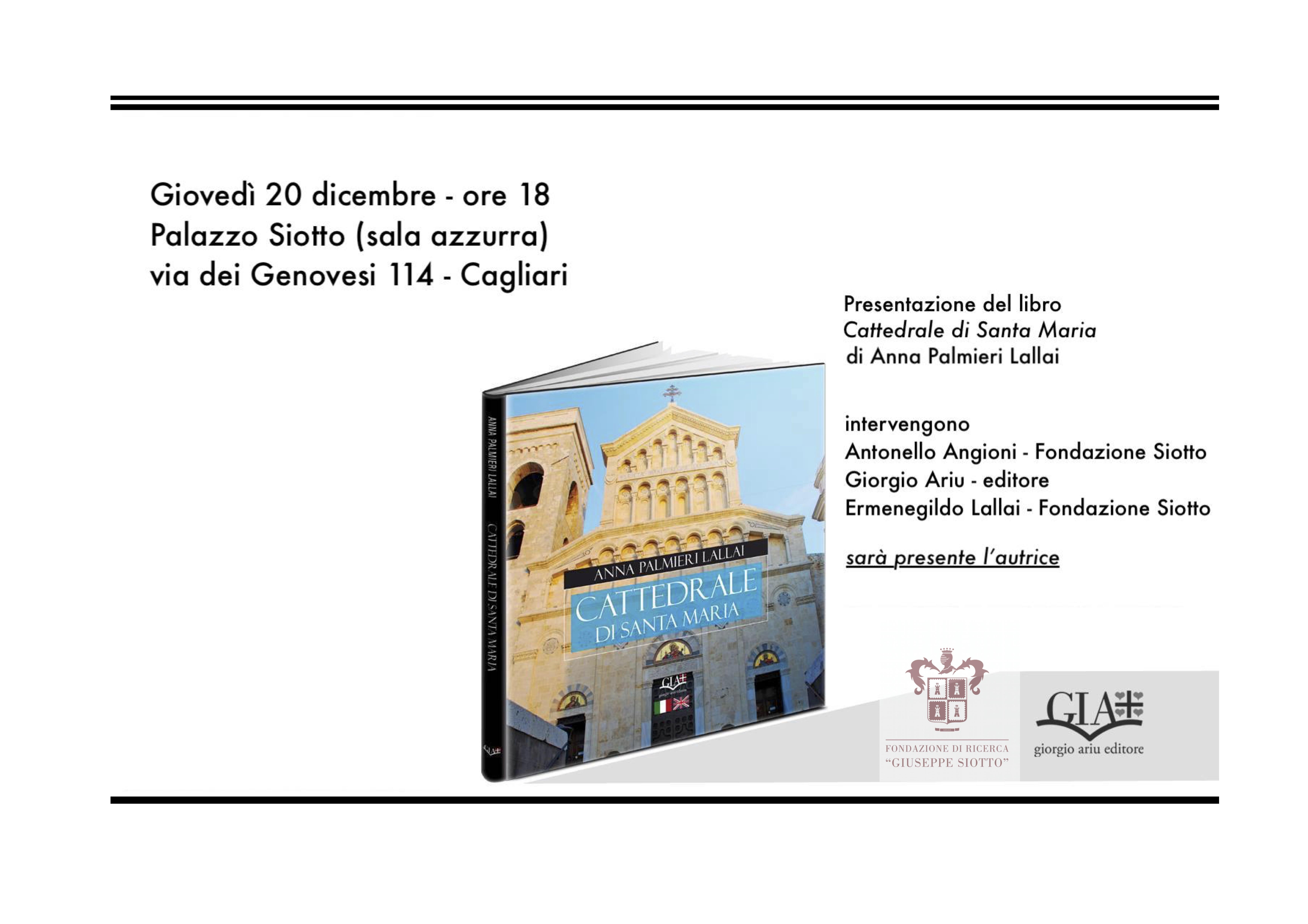 """Presentazione del volume """"Cattedrale di Santa Maria"""" di Anna Palmieri Lallai"""