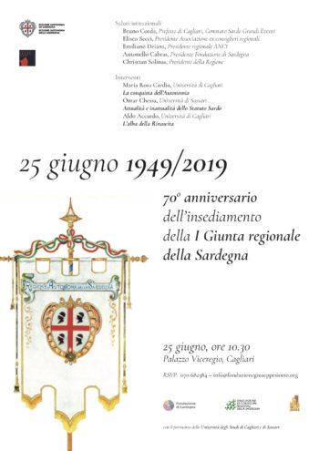 70° anniversario della prima Giunta Regionale