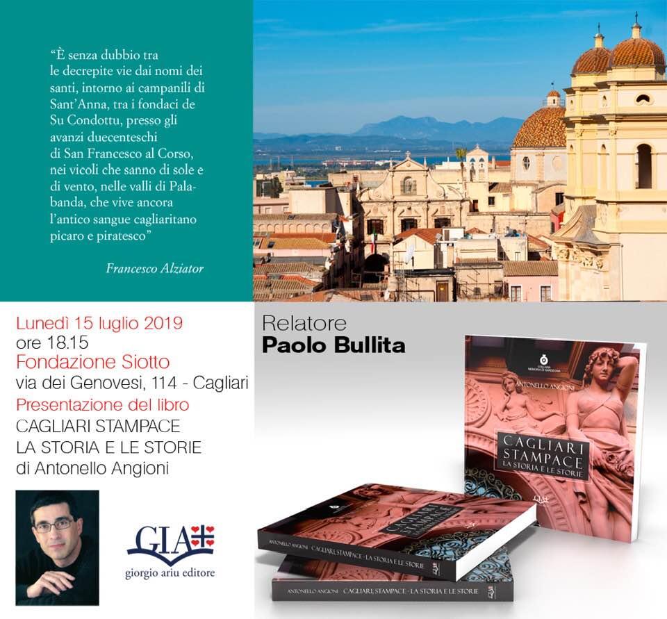 Presentazione del nuovo libro su Cagliari di Antonello Angioni
