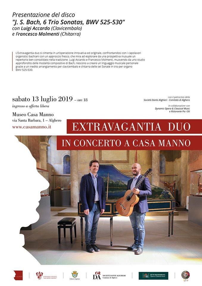 Extravagantia Duo in concerto a Casa Manno