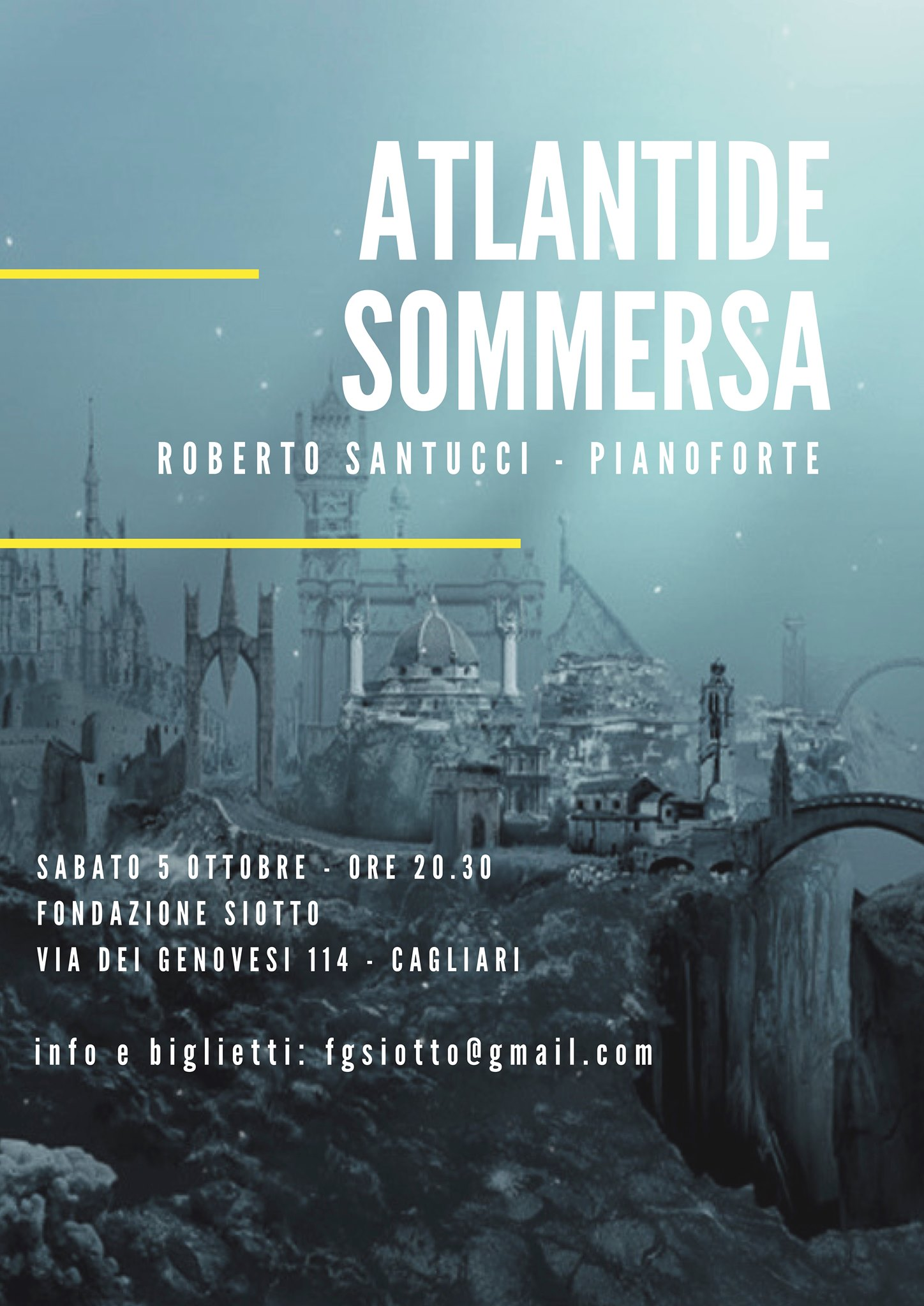 Atlantide Sommersa, concerto di Roberto Santucci