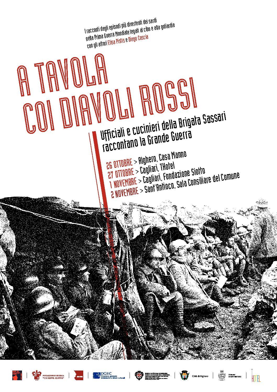 A tavola coi Diavoli Rossi, quattro appuntamenti in Sardegna