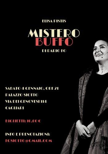 Elista Pistis in 'Mistero Buffo' di Dario Fo
