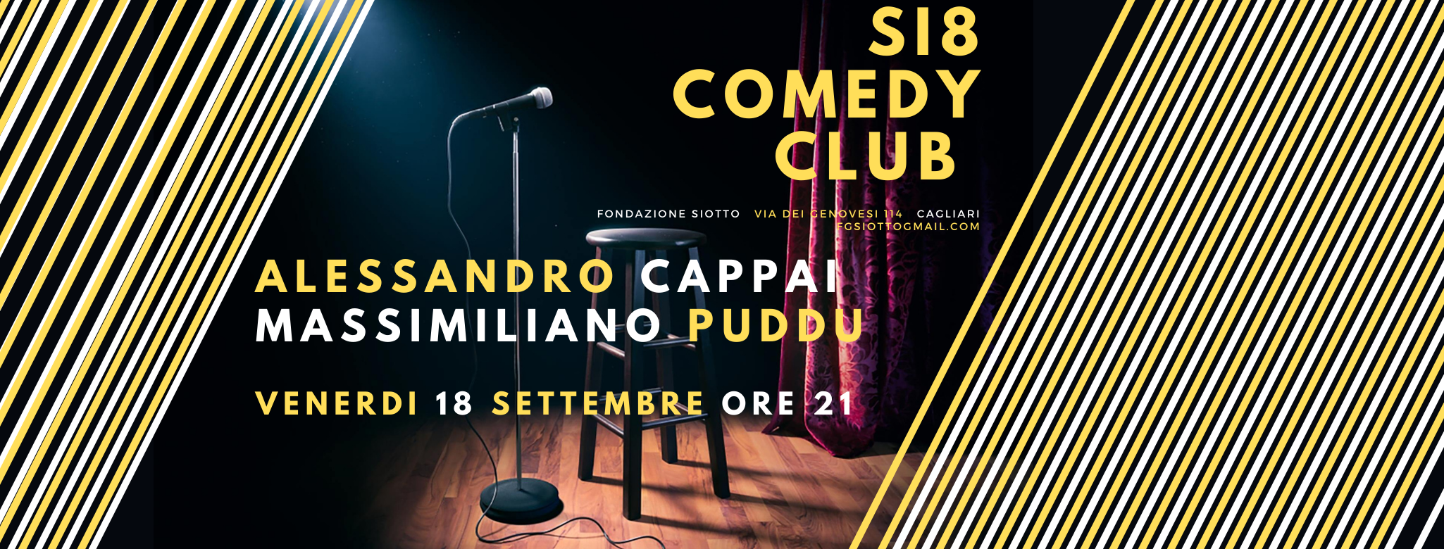 Si8 Comedy Club #1 – Alessandro Cappai e Massimiliano Puddu